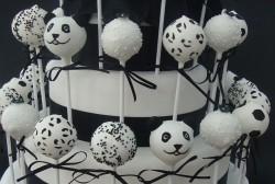 Panda Wedding Cake Pops