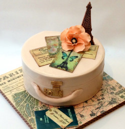 Paris Themed Bridal Shower Cake