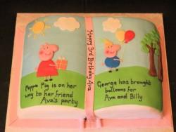 Peppa Pig Book Cake