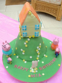 Peppa Pig Cake for Mia