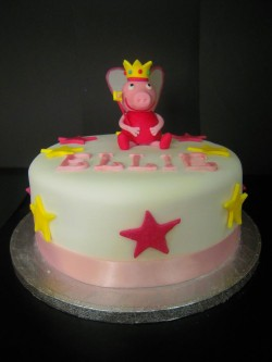Peppa Pig Cake with Stars