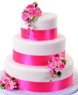 Pink Quinceanera 3 Tier Cake