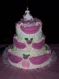 Pink Quinceanera Cake