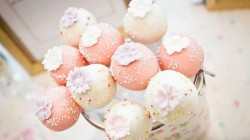 Pink Wedding Cake Pops