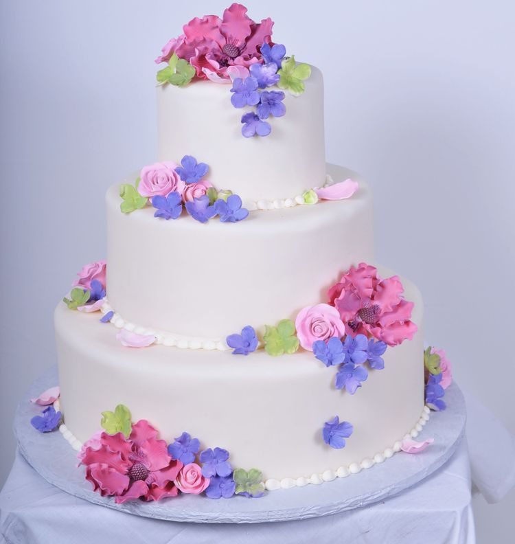 Quinceanera Cake With Pink Flowers