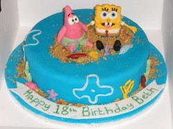 18th Birthday Cake Spongebob