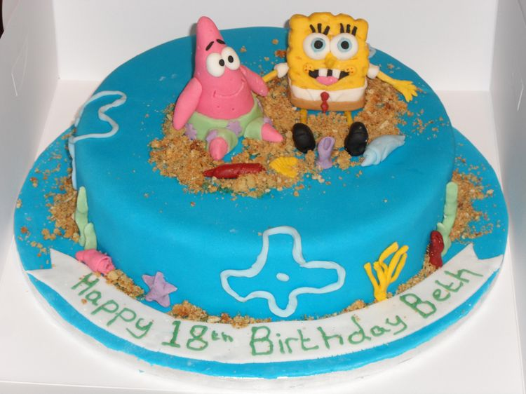 18th Birthday Cake Spongebob