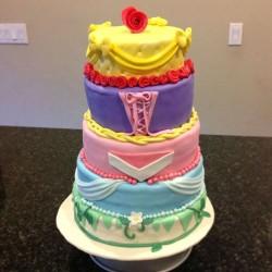 5 tiers Princess Cake