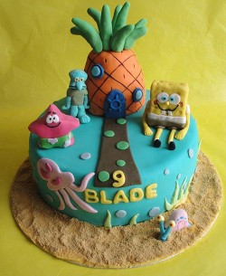 9th Birthday Spongebob Cake