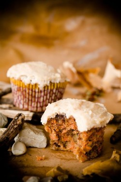 Autumn Carrot Cupcakes