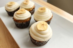 Banana Cupcakes with Dried Banana