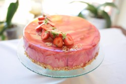 Cake with Mirror glaze