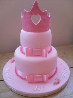 Cake with Pink Crown