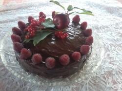 Chocolate and Raspberries Cake