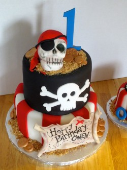 Owen 1st Birthday Pirate Cake