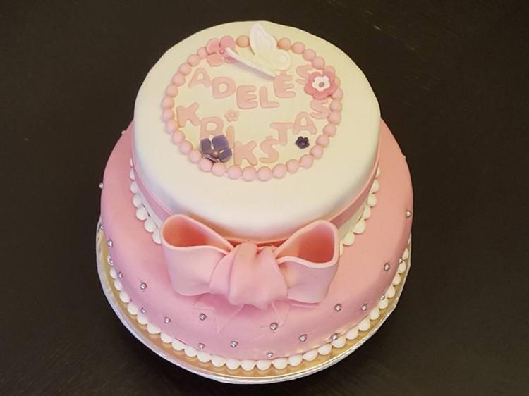 Pink Christening Cake