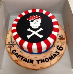 Pirate Cake for 6th Birthday