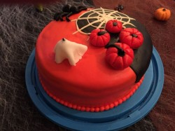 Red Halloween Cake