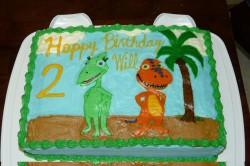 Square Dinosaur Cake