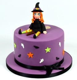 Violet Halloween Cake