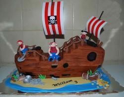 Birthday Cake -Pirate Ship