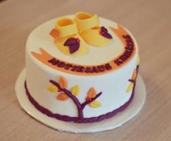 Autumn Christening Cake