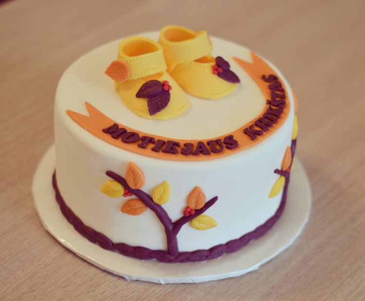 Autumn Christening Cake
