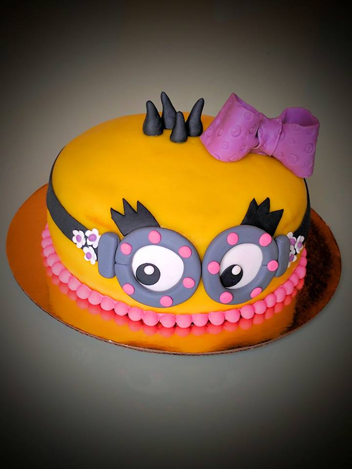 Minion Cake For Girl Birthday