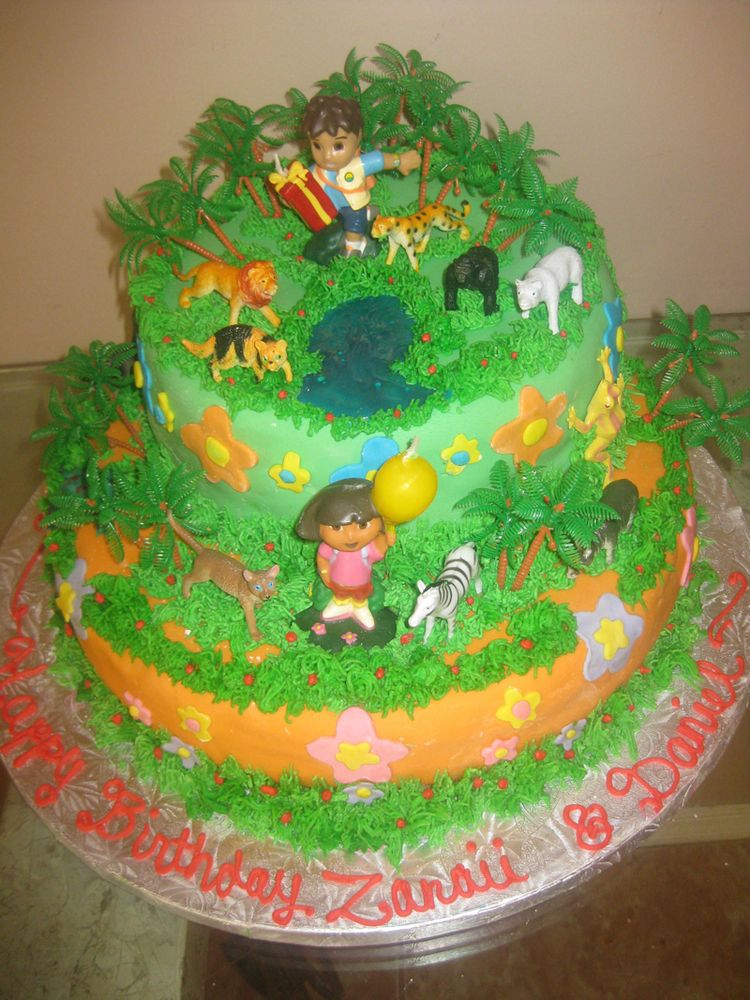 2 Tier Dora's Cake