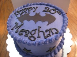 20th Birthday Batman Cake
