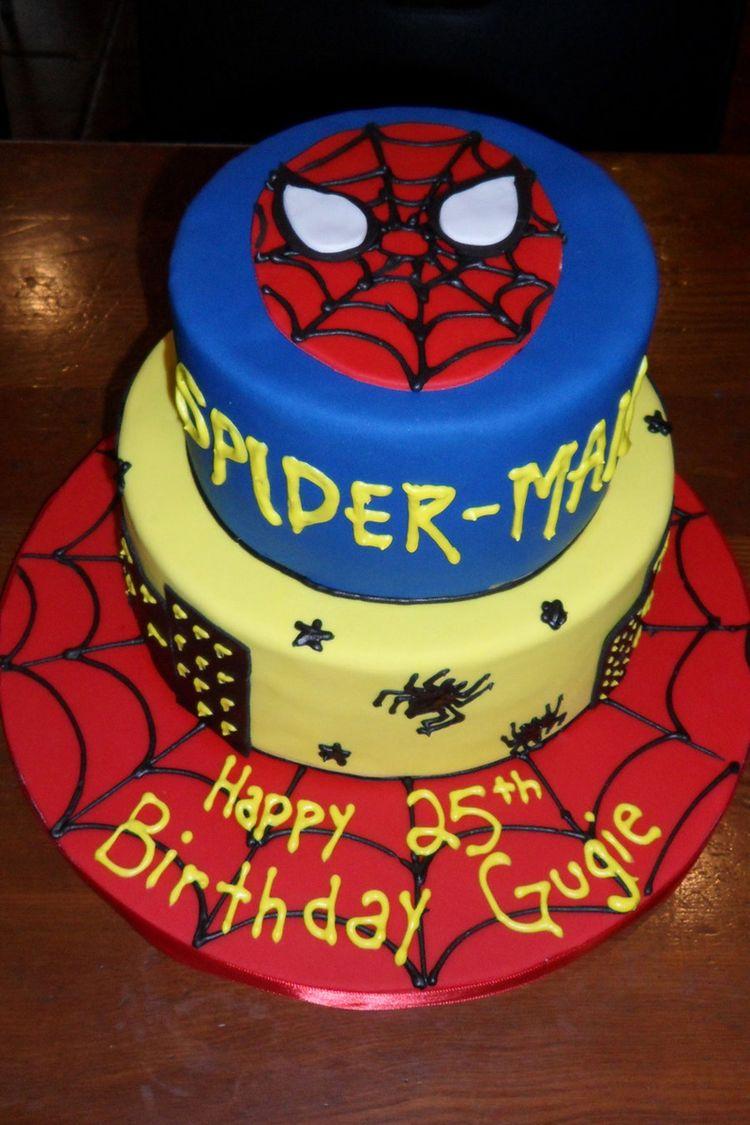 Birthday Cake Spider Man Face