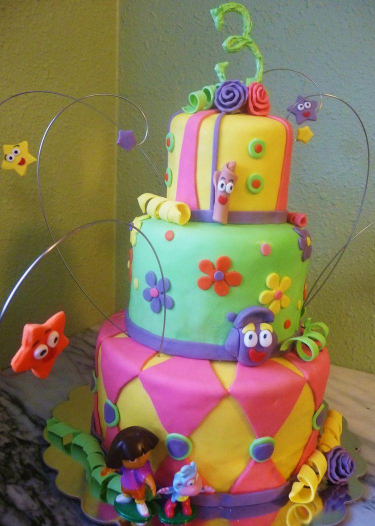 3 Tier Dora Cake