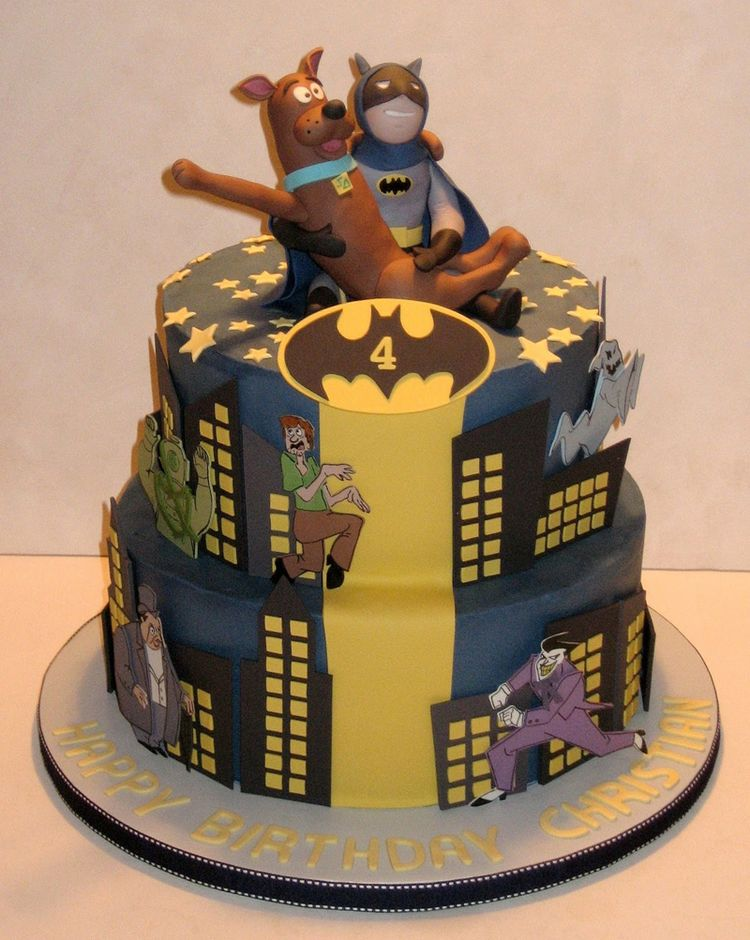Batman and Scooby Cake