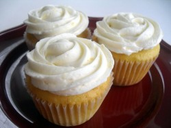 Birthday Lemon Cupcakes