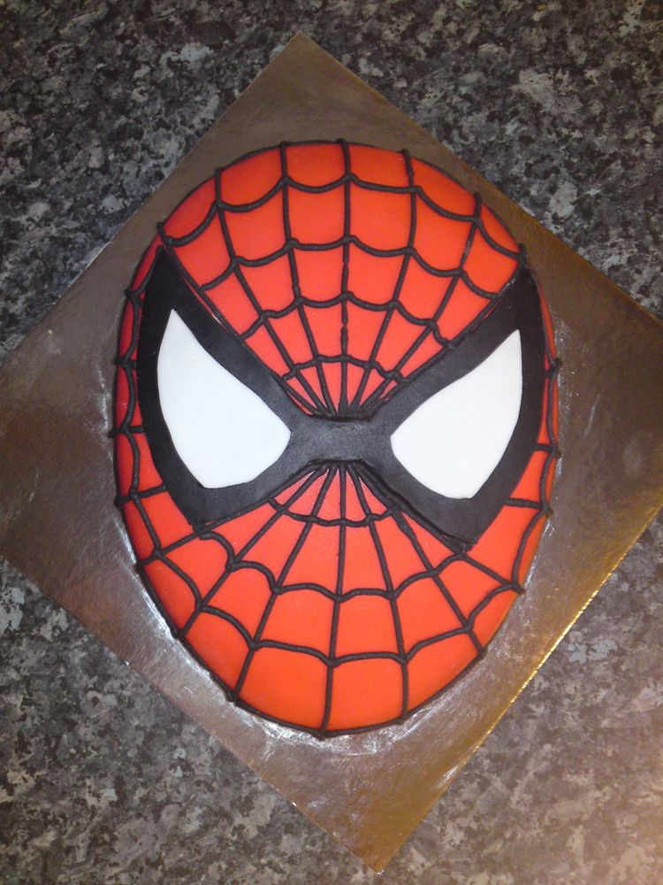 Birthday Cake Spider Man Face