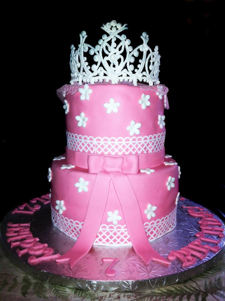 Birthday Cake With Princess Crown Image Inspiration of Cake and