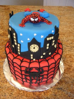 Birthday Cake with Spider Man