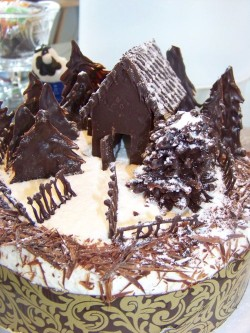 Black Forest Cake with Chocolate House