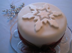 Cake with Snowflake