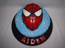 Cake with Spider Man Face