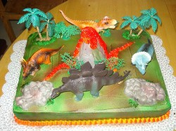 Cake with Dinosaurs