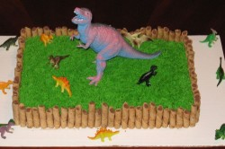 Cake with Large Dinosaur