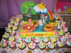 Colored Dora Cake