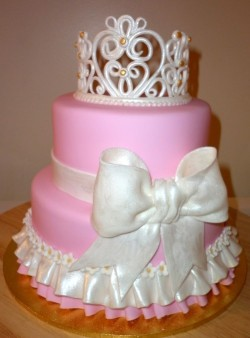 Princess Cake with White Crown