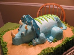 Dinosaur on the Cake