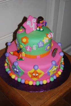 Dora Cake for Girls Birthday