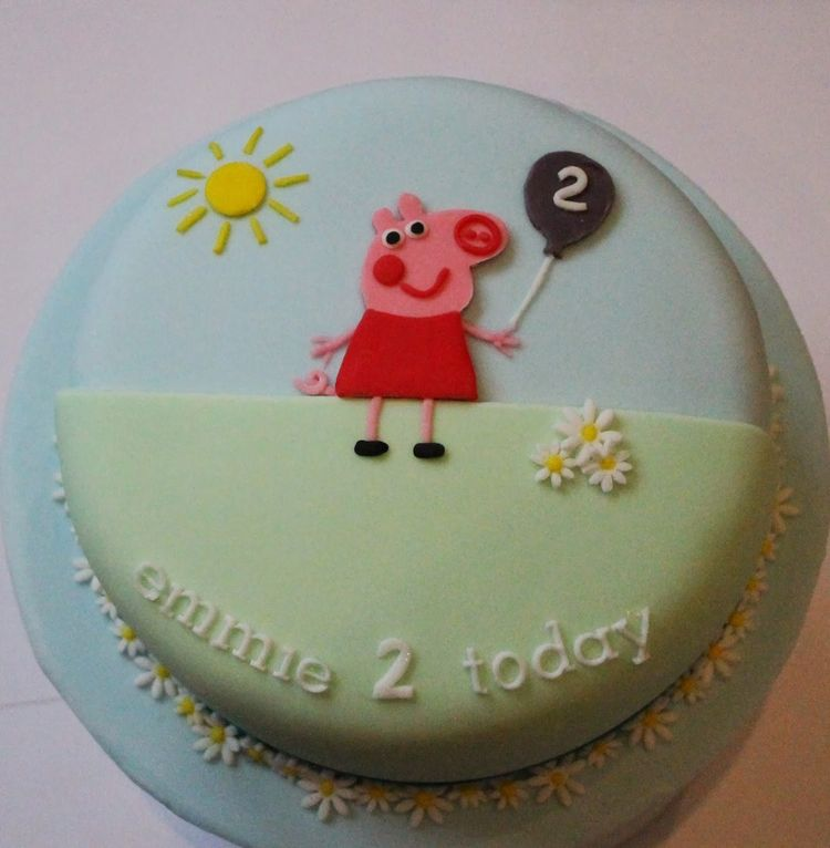 Peppa Pig 2nd Birthday Cake