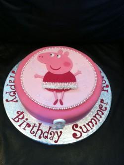 Peppa Pig Ballerina Cake