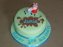 Peppa Pig Cake for Jamie
