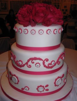 Quinceanera with Red Roses